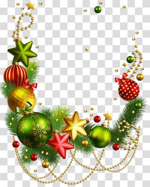 Décoration de Noël Rudolph, ornement de Noël du père Noël, décoration de Noël, swag multicolore de Noël png