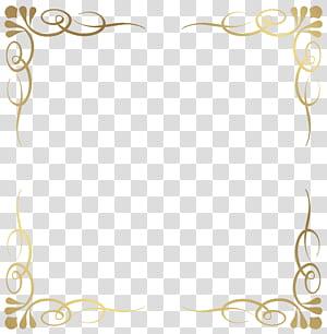 cadre, bordure décorative, cadre floral jaune png