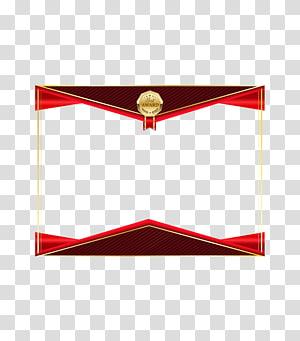 Icône, texture de bordure de certificat de haute qualité, cadre bleu, rouge et marron png
