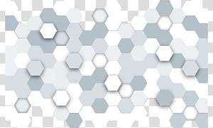 hexagones blancs et gris, hexagone euclidien en nid d'abeille, technologie argentique png
