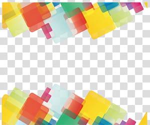 Ligne géométrique Forme géométrique euclidienne, géométrie abstraite, art numérique jaune, vert et rouge png