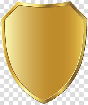 illustration de la crête d'or, insigne, modèle insigne d'or png