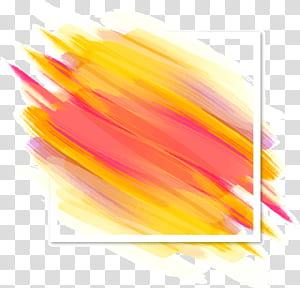 Couleur de l'ombrage au pinceau Euclidien, fond décoratif, dégradés de la couleur, peinture abstraite jaune et rose png