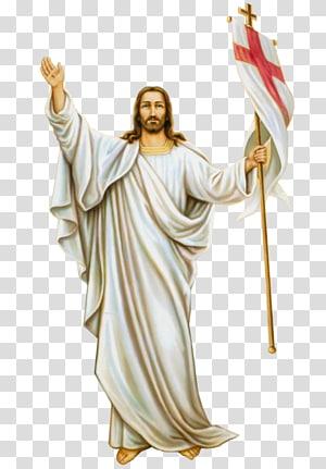 Illustration jésus christ, lapin pâques, résurrection, jésus christianisme, semaine sainte, jésus christ png