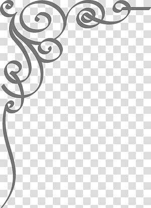 Invitation de mariage, frontière invitation de mariage, fond gris en spirale png