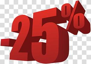 -25% illustration, 25% de réduction sur la vente png