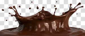 illustration liquide brune, barre de chocolat chaud au lait au chocolat, gouttes de chocolat png