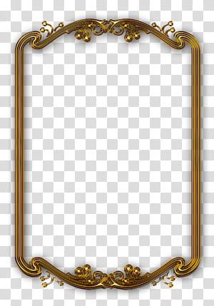 frame Frame line, cadre classique en or, cadre rectangulaire de couleur or png