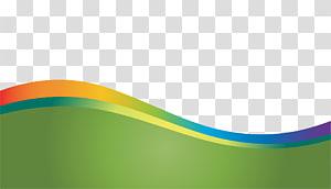 Wave, motif de vagues dynamiques coloré, art de flux vert, jaune et violet png