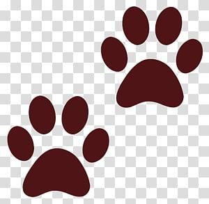 illustration de deux pattes rouges, chien de patte de chien, empreinte de chien png