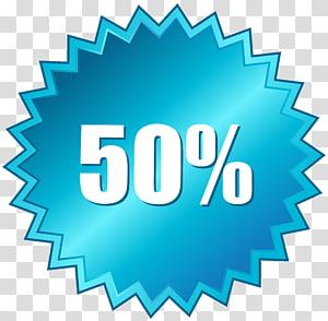 Logo 50%, étiquette 50 hors vente png