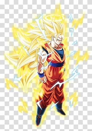 Son Goku Super Saiyan 3, Dragon Ball Z Dokkan Battle Goku Vegeta Gohan Bulma, aura png