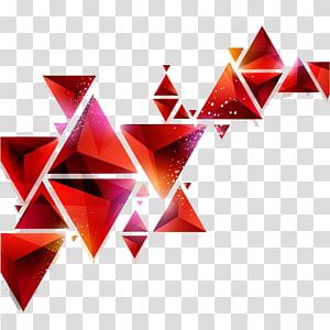 Géométrie Art abstrait Triangle Forme géométrique, triangle, géographique png