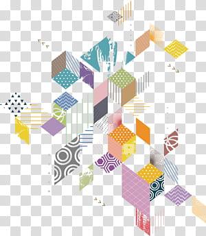 Géométrie, diagramme géométrique, illustration multicolore png
