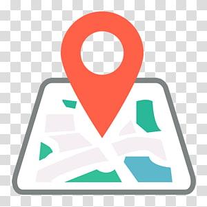 Appareil de navigation GPS Unité de localisation GPS Système de localisation de véhicules Icône, Carte verte Repère rouge, logo de la carte png