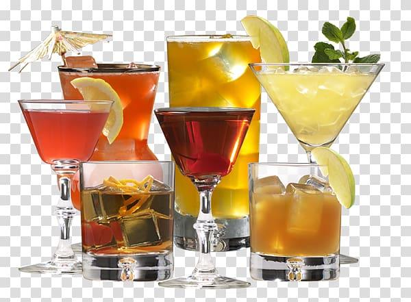 plusieurs verres, Whiskey Rum Cocktail Boisson distillée Bière, Cocktail png