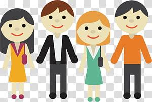illustration de quatre profils, icône de consultant en affaires, hommes et femmes d'affaires png