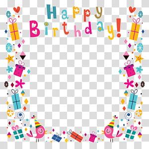 Carte de voeux d'anniversaire, ombrage de fond affiche joyeux anniversaire, illustration de cadre joyeux anniversaire png