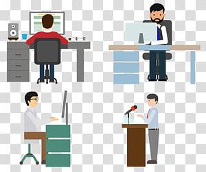 quatre ouvriers, Adobe Illustrator, travail png