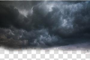 Cumulus Cloud Cumulonimbus Complexe convectif mésoéchelle, nuages noirs, niveaux de gris des nuages dans le ciel png