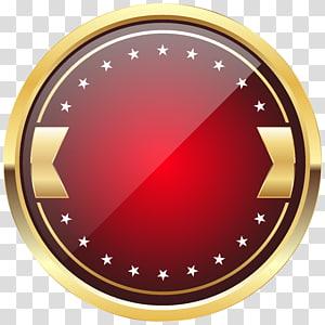 Logo rouge et marron, Badge, Modèle d'insigne rouge png