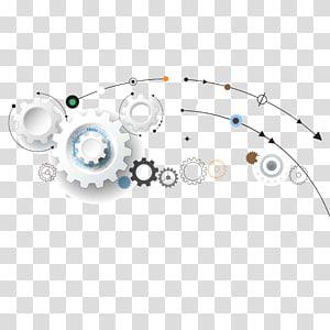 illustration d'engrenages, technologie de l'information High-Tech, matériau de référence pour engrenage argenté png
