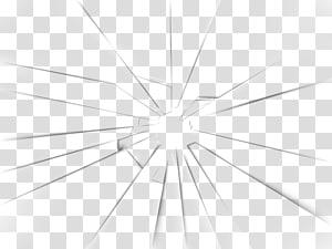 Modèle d'angle de la ligne de structure de symétrie, verre brisé, miroir brisé noir et blanc png