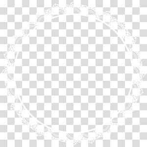 cadre blanc rond vectoe, motif de point de symétrie linéaire, bordure ronde png