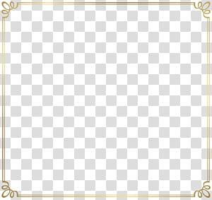 Modèle filaire, bordure de cadre décorative, cadre carré brun png