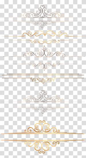 Icône, bordure dorée, floral gris et beige png