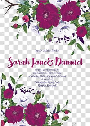 Papier pour faire-part de mariage, plaque de fond en papier, texte de Sarah Janes Danniel png