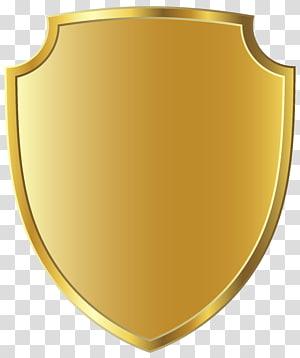 Logo Bouclier doré, insigne Cœur d'épines, insigne doré, insigne en or png