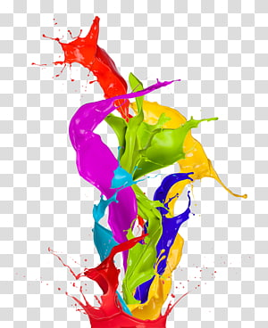 Peinture couleur art abstrait, peinture éclaboussée, peinture abstraite png