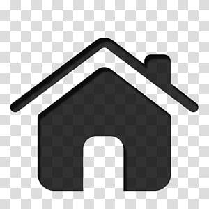 Icônes d'ordinateur accueil, icône de maison noire png