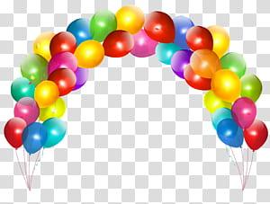 Balloon, Balloon Arch, voûte de ballon multicolore png