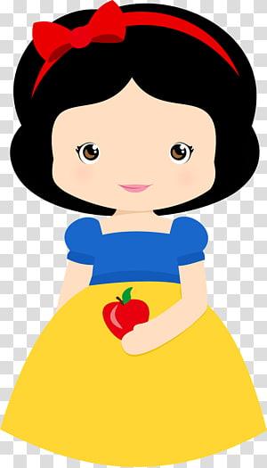 Illustration de Blanche-Neige, Blanche-Neige Sneezy Disney Princess, jolie fille png