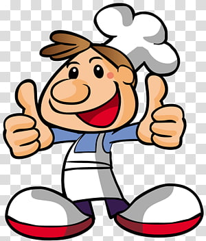 illustration de chef masculin, dessin animé de Pizza Chef Cooking, cuisine png
