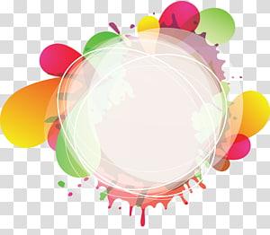 illustration couleur rond éclaboussé, cercle, cercle et fond coloré mode png