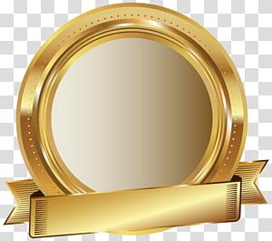 Complément alimentaire Goldenseal Herb Teinture de ginseng américain, sceau d'or, illustration de ruban et plaque d'or ronde png