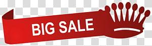 couronne et ruban de grande vente rouge et blanche, graphisme évolutif Sales Icon, grande étiquette de vente png