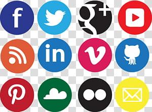 Réseaux sociaux Icône de réseau social icône Icône, fond d'icônes sociales, logos de sites Web png