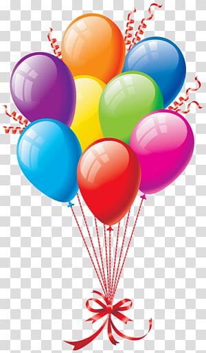 Ballon d'anniversaire, ballons, illustration de ballon png