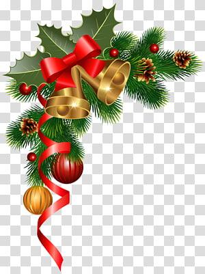 Décoration de Noël Ornement de Noël Arbre de Noël, Décoration de coin de Noël, Couronne verte png