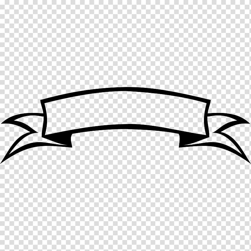 Ruban bannière noir et blanc, bannière de ruban png