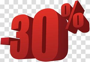 -30% illustration, 30% de réduction sur la vente png