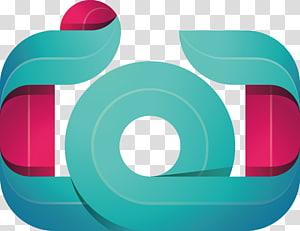 Logo de la caméra, création du logo de la caméra, illustration verte et rouge png