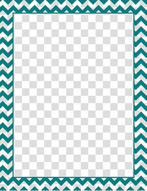 vert et bleu, papier vert Chevron Blue, fichier de cadre à bordure turquoise png