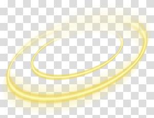 Cercle de lumière jaune Euclidien, élément de l'effet de cercle jaune, illustration de feux jaunes ronds png