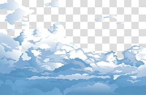 Nuage de ciel bleu euclidien, ciel bleu et nuages blancs, nuages animés png