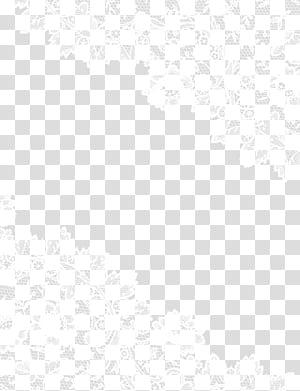 Motif d'angle de point noir et blanc, dentelle png